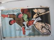 约60年代 工人水粉画一幅  无款 尺寸131*26厘米