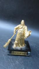 金色铜制 关公雕像摆件一个19092024