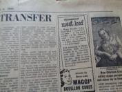 民国外文报纸,1949年6月,2开半张,品好如图。