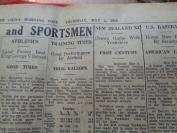 民国外文报纸,1949年5月,2开1张,品好如图。