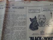 民国外文报纸,1949年6月,2开1张,品好如图。