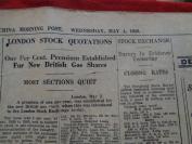 民国外文报纸,1949年4月,2开1张,品好如图。