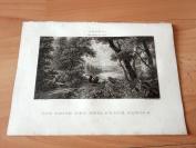 1823年铜版画《费兰兹波吉亚的游历》(DIE REISE DES HEIL.FRANZ.BORGIA)—出自阿托瓦作品,维也纳美景宫画廊--纸张24.4*17.5厘米