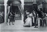 1885年法国艺术系列凹版蚀版画—《莎士比亚戏剧人物鲍西亚》ALEXANDRE作品 37x28cm