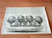 19世纪木刻版画《虚构的飞艇》(Neuse Luftschiff , erfunden )-纸张尺寸38*25.5厘米