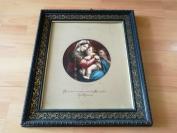19世纪末光色印刷法(Photochromd)彩印《拉斐尔的椅中圣母》--精美雕花木画框,原始发行状态--彩印工艺的里程碑