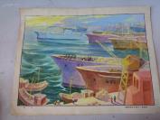 80年代连环画底稿3张合拍,特大张,长27cm35cm,品好如图