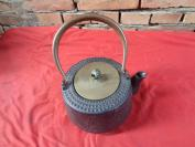 老手工铁茶壶,高24cm,重4斤,品好如图。