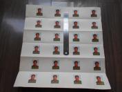 文革【红宝书毛主席像,印刷厂未裁大张】尺寸:39×40.5cm