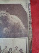 民国名人早期画报《新闻报图画附刊》民国21年1月20日,4开1张,品好如图。