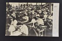 (乙4613)二战史料《读卖新闻老照片》1张 烧付版 1944年8月13日 日本上浦女子商业学生在制作航空计器 黑白历史老照片 二战时期老照片 读卖新闻社