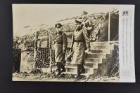 (乙4611)二战史料《读卖新闻老照片》1张 烧付版 1944年6月16日 二战欧洲战场 二战期间纳粹德国的三大名将之一的埃尔温·约翰内斯·尤根·隆美尔元帅视察法国北部沿岸的大西洋壁垒  黑白历史老照片 二战时期老照片 读卖新闻社