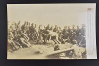 (乙4598)二战史料《读卖新闻老照片》1张 烧付版 1944年9月29日 日军北方基地的陆海军士兵举行相扑大会 黑白历史老照片 二战时期老照片 读卖新闻社