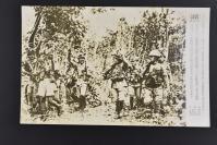 (乙4616)二战史料《读卖新闻老照片》1张 烧付版 1944年3月24日 与日军打招呼的印度国民军  黑白历史老照片 二战时期老照片 读卖新闻社