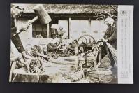 (乙4607)二战史料《读卖新闻老照片》1张 烧付版 1944年2月11日 日本千叶县香取部丰浦村举办农闲期飞行机献纳资金之绳运动 黑白历史老照片 二战时期老照片 读卖新闻社
