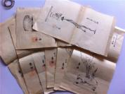 清末民初插画图片——【8张】石印挿花图片 花道,有红色印章,日本插花艺术 种类,书友自己看照片