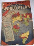 1945年八开本   世界地图。 彩色