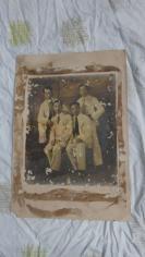民国知识青年合影大尺寸老照片一张19100702    长47*宽32(cm).