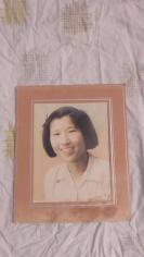 民国手工上彩美少女老照片大尺寸一张19100704晋江县第一中学