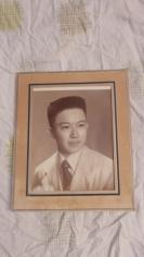 民国知识青年大尺寸老照片一张19100703长31.5*宽26.5(cm).