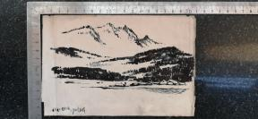4)1967年  钢笔画小品  一幅