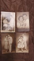 民国华侨结婚照到一家四口照老照片4张 19100734