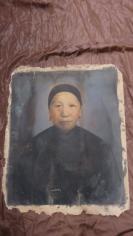 民国油画老太画相一张,画工老练逼真,大张(长66*宽56(cm).  19100717