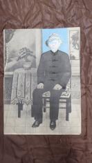 民国手工铅笔画相一张(头是原拍的老照片拼上去的),大张(长44*宽32(cm).  19100723,台北 吴德龙美术馆(同一批收来的)对两岸历史有考证价值