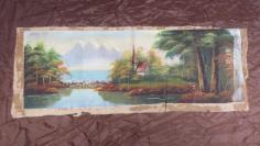 民国后期风景手工油画一张, 19100729
