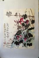 云南著名画家桂镜子早期《花鸟画》,经作者确认为其早年当教师时作品