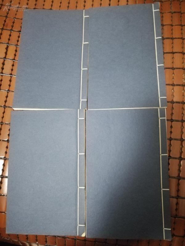 潘君诺(潘然)藏名家印谱,手拓线装四册100方印