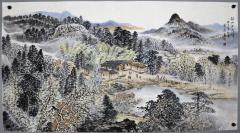 湖南画院特聘画家;长沙画院副院长 【曾进】山水