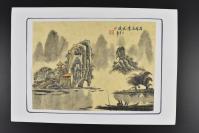 (乙5027)日本购回 纸本手绘《中国山水画》1幅 桂林名景伏波山 丁亥年 高飞 钤印 设色 画心尺寸为27.4*19.9cm