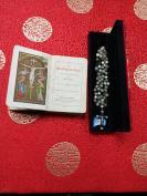 清代或者民国受难耶稣老十字架项链,老砗磲制作的,带盒子