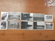 民国旧影集的十张民国照片,品相保存极好,美国阅兵旧照附带国旗48颗星星,,风景照,大象,鹰