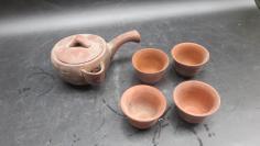 老紫砂茶壶茶杯5个19102319