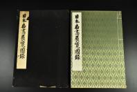 (乙5382)《日本名画展览图录》原函 布面精装一册全 共72幅 包括弥勒菩萨像 不动明王二童子像 释迦金棺出现图 降三世明王像 地藏菩萨像 毗沙门天像 红玻璃阿弥陀像等 大坂市立美术馆 1938年