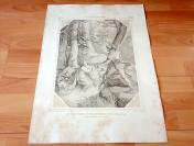1852年钢版画《蒙梅尔湖中的女仙凯斯塔琳娜与容克·福克》(Die Nymphe Krystallina am Mummelsee und Junker Folker von Hagenbrugg)---版画纸张尺寸60*45厘米