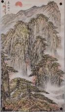 """被称为""""中国画坛巨匠""""【陈大章】山水"""