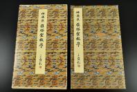 (乙5895)《褚遂良 雁塔圣教序》原色法帖选2 精印法帖 书法 字帖 由唐太宗撰写。由褚遂良所书,称为《雁塔圣教序》  二玄社 1987年
