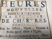 1694年《沙特尔公爵夫人时祷书》,含铜版雕刻、泥金手稿!