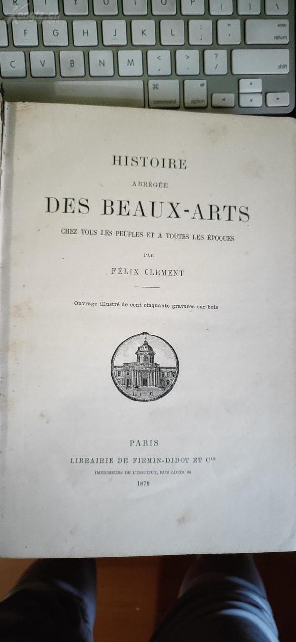 1879年 硬精装 HISTOIRE  DES BEAUX-ARTS(美术史)