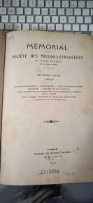 16开精装 1916年版  MEMORIAL DE LA SOCIETE DES MISSIONS-ETRANGERES(外国使团纪念录)