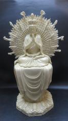 千手观音瓷摆件一个1911107工艺精悍,精雕细刻不简单