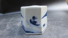 山水老翁图精美瓷印一个191110759
