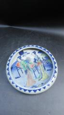 粉彩人物手工画瓷盆一个191110752