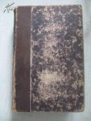清代原版精装皮脊  1873年外文书1册全 带有藏书票一张 签名一个    864页 品好