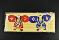 (乙6449)《日本浮世绘风筝》一组 2只 日本武士图案 日本的风筝最早是从中国传来,直到江户时代才开始流行,因为各地风俗民情不同而染上浓厚的地方色彩,从传统的日本风筝仿佛可欣赏到日本庶民的艺术文化。单个尺寸约为:11*8CM