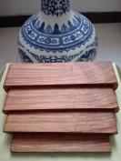 缅甸花梨4件套底座,一整块木料雕刻而成【2019112004号】多次打磨光滑漂亮
