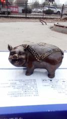 铜福猪,财猪